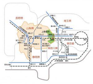 広域地図:市村製作所へのアクセス方法